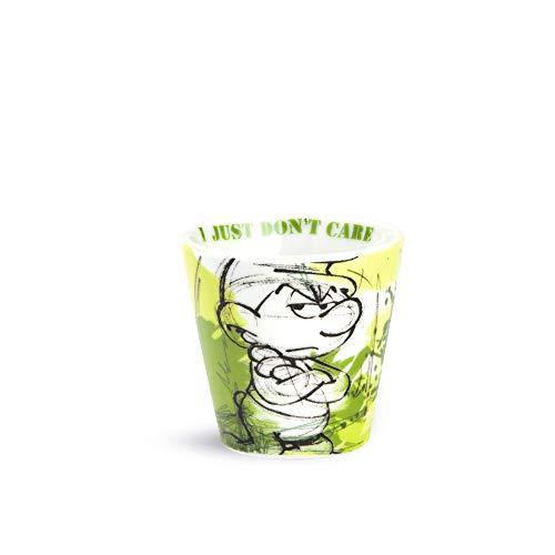 I Puffi Schlümpfe ppu 83/4 V Becher Kaffee, Mehrfarbig (Grün/Weiß), 4 Einheiten