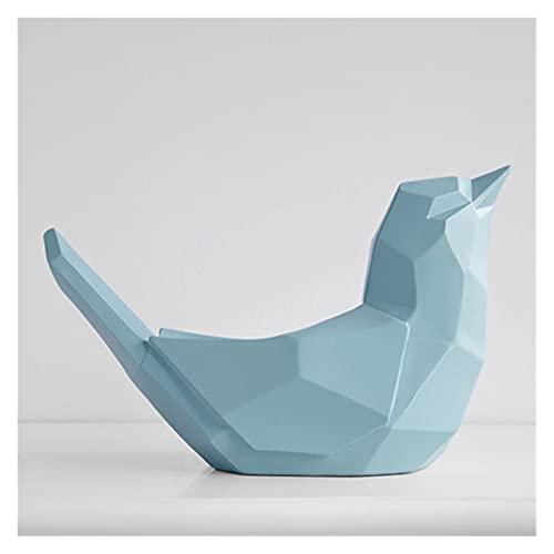 Resina Bird Statue Teléfono Móvil Teléfono Móvil Control Caja de almacenamiento para mesa de mesa Decoración del hogar Maquillaje Organizador Titular de teléfono celular Escritorio ( Color : A Blue )
