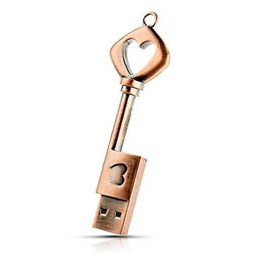 Mackur USB-Stick in Schlüsselform USB Flash Drive Pen Drive Memorystick, metall, #4, 4 G