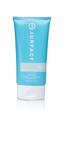 Surface Natural Mineral Sunscreen Lotion | SPF 30 Certified All Natural Sunblock | Parabens,...