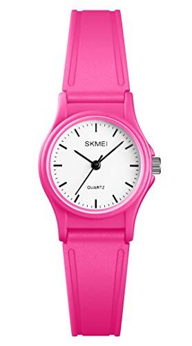 Kinder Analog Uhr für Jungen Mädchen Klein Niedlich Armbanduhr Einfach 5ATM Wasserdicht Süß Kinderuhr Handgelenk Uhren Leichte Quarzuhr