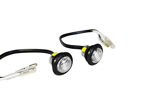 Pequeño Redondo Empotrado LED Indicadores Marcadores para Proyecto Motocicletas y Scooters