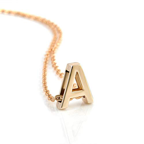 Charm Gold A-Z Initial Letters Name Alphabet Pendant Chain Necklaces Jewelry - A