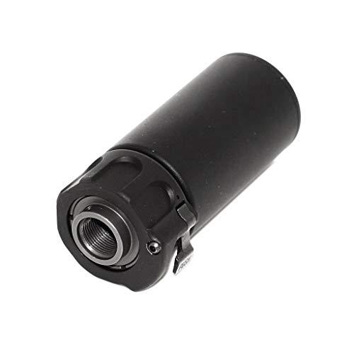 Genéica Airsoft - Supresor de Airsoft 5KU QD Mini Airsoft con Disparador de 14 mm CCW, Color Negro