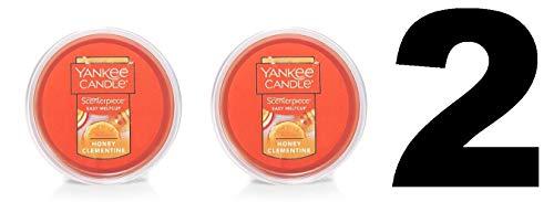 YANKEE CANDLE 2 Unidades de Fragancia de Miel Clementina, fácil de derretir, Taza de Cera (Ancho de 5,7 g, 61 g Cada uno)