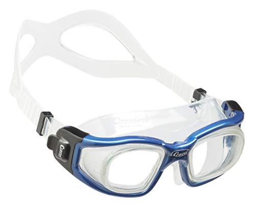 Cressi Galileo Goggles Gafas de natación con Lentes de Vidrio Templado, Unisex Adulto, Transparente/Azul Nery, Uni 🔥