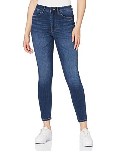 Wrangler High Rise Skinny Jeans, Cloud, 28W   30L para Mujer