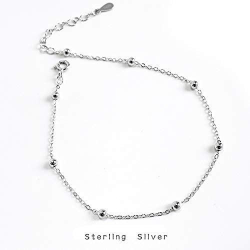 s925 silver cross chain bag beaded ankle chain temperament minimalist girl beach foot ornaments personality jewelry