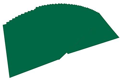 folia 6458 - Tonpapier tannengrün, DIN A4, 130 g/qm, 100 Blatt - zum Basteln und kreativen Gestalten von Karten, Fensterbildern und für Scrapbooking