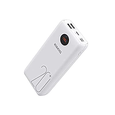 ROMOSS USB C Portable Charger 26800mAh, 18W PD Power Bank QC3.0, Tri-Input-Output Battery Pack Compatible for iPhone 11/11Pro, iPad, MacBook, Samsung, Nintendo Switch, GoPro and More