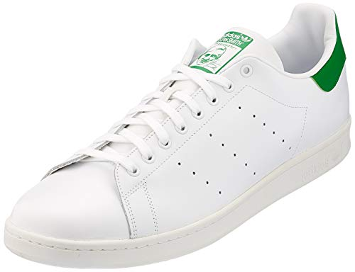 adidas Stan Smith M, Scarpe da Ginnastica Uomo, Footwear White Core White Green, 46 EU
