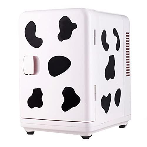 Refrigerador de Camping Camping 6l, Mini refrigerador para el hogar, congelador de Fresco refrigerado, Barra de Hielo de Escritorio portátil en Dormitorio (Color : Blanco, Size : 30 * 19.5 * 25cm)