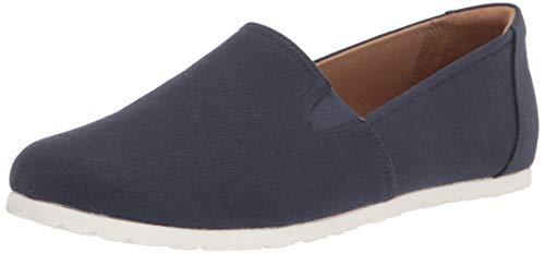 Amazon Essentials Women's Casual Slip On Canvas Flat Sneaker, Navy, 7 B US