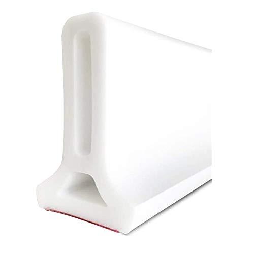 Bad Wasserbarriere Silikonstreifen Duschwanddichtung, Flexibler Silikon-Wasserdurchflussstop für das Bad, trockene und nasse Trennung (50 cm/19.6 in)