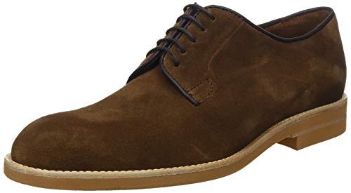 Lottusse T2116, Zapatos de Cordones Derby para Hombre, Marrón (Camoscio Marron Camoscio Marron), 45 EU