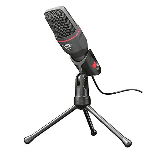 Scopri offerta per Trust Gaming GXT 212 Mico Microfono USB PC, Connessioni da 3.5 mm e USB, Treppiede con Angolo Regolabile, Cavo da 1.80 m, per Streaming, Youtube, Twitch, per PC, PS4 e PS5, Nero