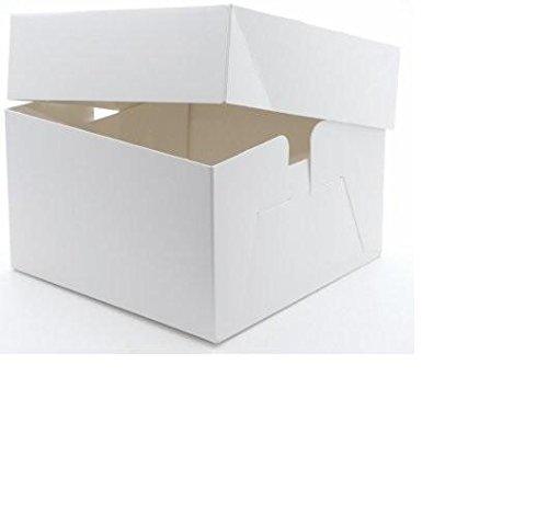 Unbedruckte Tortenkartons, 25,4 x 25,4 x 15,24 cm, 5 Stück