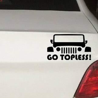 BLOUR GO Topless Jeep Neue Warnaufkleber Vinyl Aufkleber Aufkleber