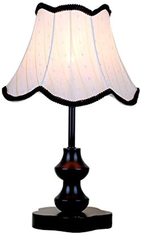 ZHANG NAN ● Vintage Tischlampe Pastoralen Stoff Schatten Dekoration Schreibtischlampe Schlafzimmer Studie Nacht Dimmen Arbeitslampen Warme Schreibtischleuchten Dekoration Büro ●
