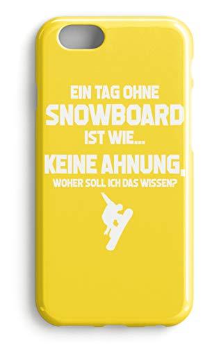 shirt-o-magic Handyhülle Snowboarder: Ohne Snowboard? Unmöglich! - Case -iPhone 7-Gelb