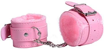 Fluffy Wrist Leather Handcuffs Bracelet Leg Cuffs Anklet Bangle Role Play Exercise Bands Leash product image