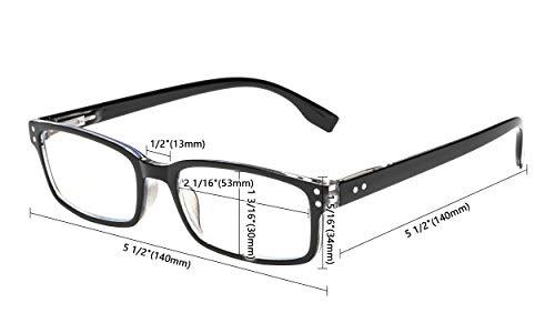 4 Pack Vintage Reading Glasses Men Comfort Readers Women Reading Eyeglasses
