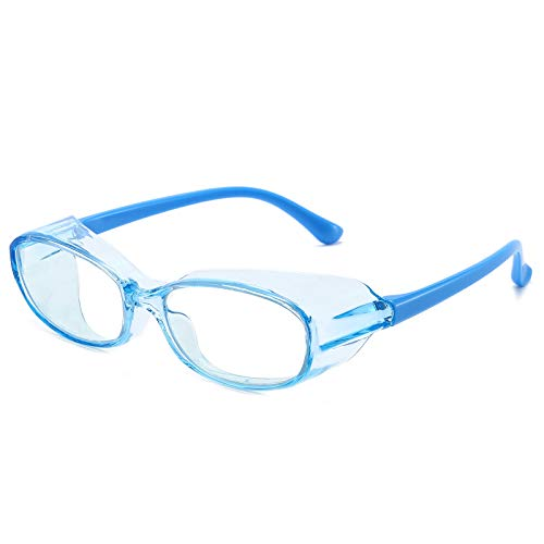 Kids Safety Glasses Anti Fog Blue Light Blocking Eye Protection Goggles with Clear Side Shield for Boys Girls