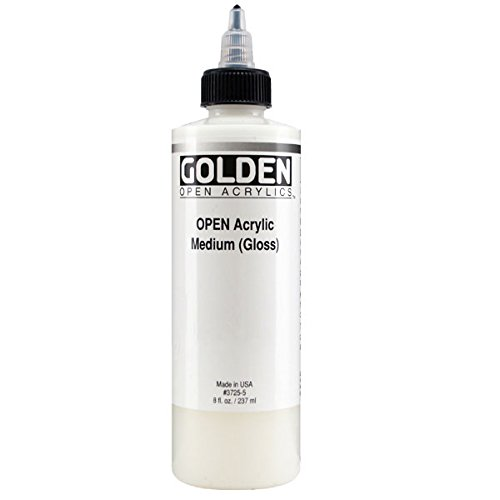 Golden Open Acrylic Medium, 8 Ounce, Gloss