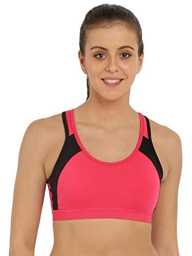 Jockey Women's Soft Cup Bra (8901326110263_1380_X-Large_Pink and Black)