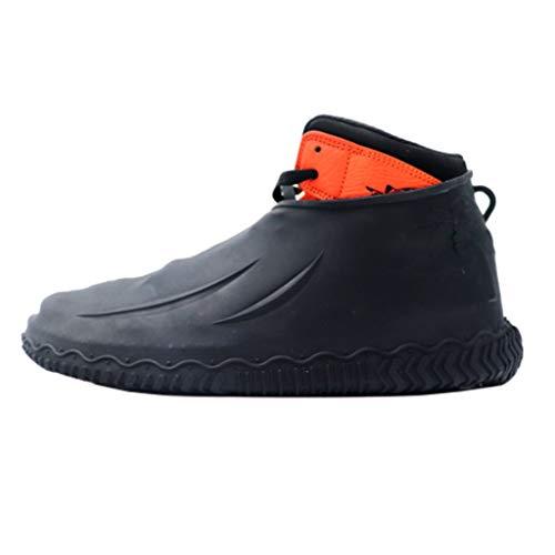 Overshoes Silicone Waterproof Shoe Cover Outdoor Rainproof Hiking Skid-Proof Shoe Covers Reusable Regenschuhe Überschuhe Schuhüberzieher Mit rutschfestem Saugnapf Fur Unisex Kinder (Schwarz, M)
