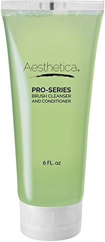 Aesthetica Makeup Brush Cleaner - Cruelty Free Make Up Brush Shampoo for any Brush, Sponge or Applicator - Made in USA - 6 oz.