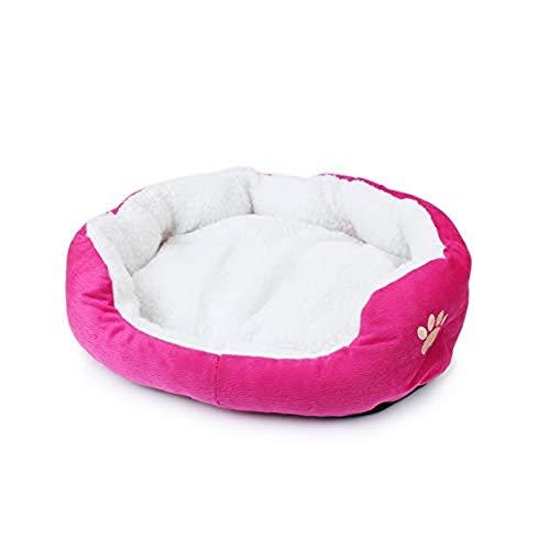 Xuxuou Lit doux et confortable pour chats et petits chiens - Lit de luxe rond ou ovale - 1 article - Xuxuon