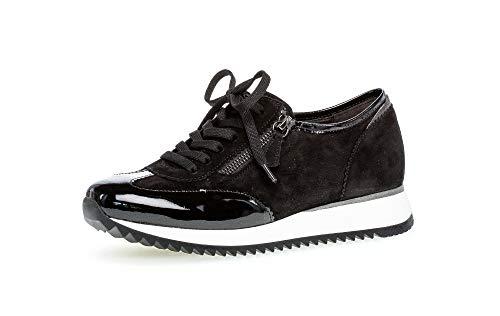 Gabor Mujer Zapatillas, señora Bajo,Zapatilla de Negocios,Cordones,Calzado de Calle,de Exterior,Calzado Deportivo,Casual,Schwarz/Ferro,43 EU / 9 UK 🔥