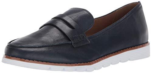 Blondo Women's Penny Shoe, Navy Leather, 6.0 Medium US