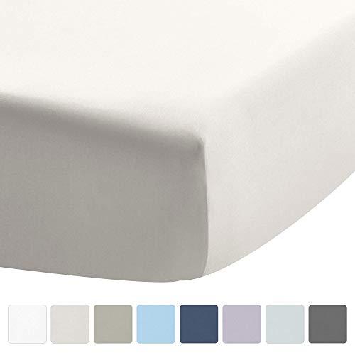 UMI bedlakens – 100% katoen, kleur zuiver wit, geschikt voor matrassen tot 16 inch diepe zakken