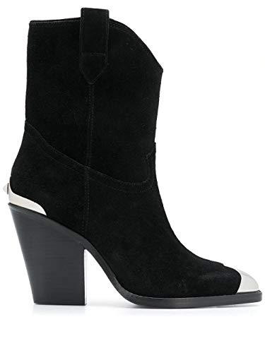 Ash Luxury Fashion Femme ELVIS01 Noir Bottines | Saison Permanent