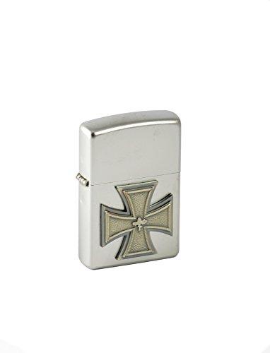 Zippo 2.004.001 Feuerzeug Eisernes Kreuz Emblem 1918 Satin Finish
