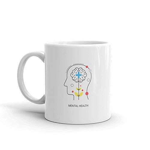 Keramik Tasse,Große Teebecher,Porzellan Kaffeebecher,Porzellantasse,Psychische Angststörung