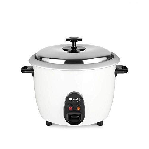 Pigeon by Stovekraft Joy Rice Cooker with Single Pot, 1.8 litres. A Smart Rice Cooker for Your own Kitchen (White)
