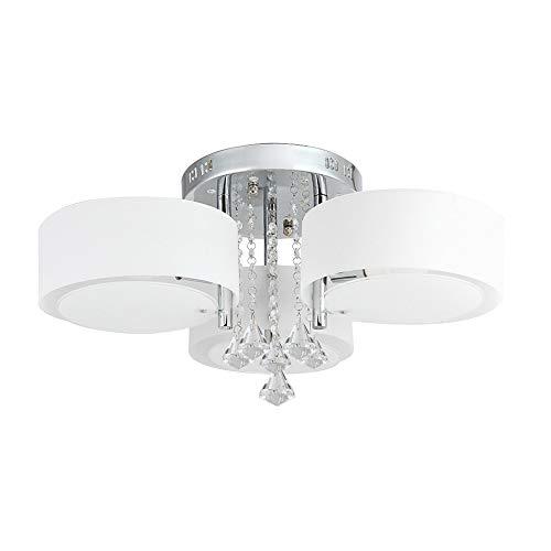 Lampadario da Soffitto con 3 punti luce rotondi - in Vetro e Cristallo - Design Moderno ed Elegante