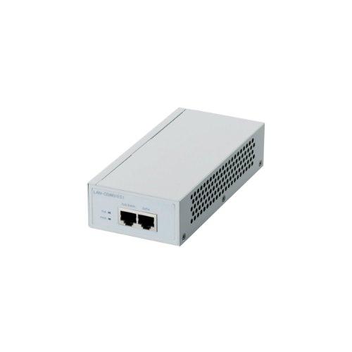 ロジテック PoEインジェクタ Giga対応 動作時環境50℃対応 3年保証 LAN-GSW01ES1