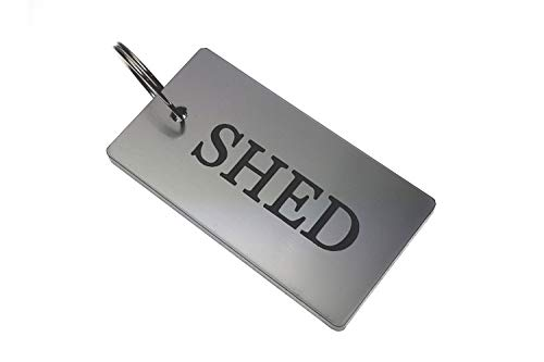 Origin SHED Key Ring - Silver Metallic Acrylic Plastic, House & Home