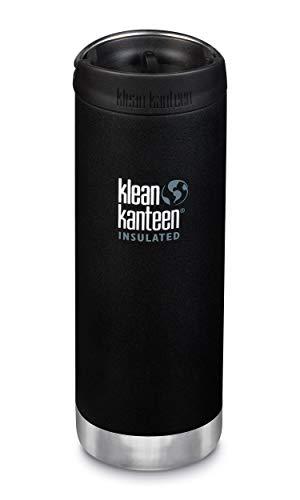 Klean Kanteen TKWide - Borraccia da 16 oz, per adulti, unisex, colore: nero, 76,2 x 76,2 x 219,7 mm