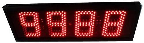Godrelish 5 pouces Haut voitureactère LED Compteur Countdown numérique   jusqu'à trois boutons Télécomhommede IR couleur rouge