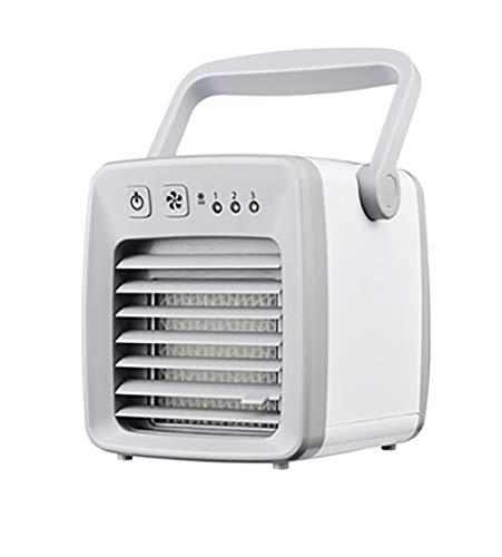 Luoying Ventilador de Escritorio pequeño Ventilador del Mini pequeño Aire Acondicionado Refrigeración USB Cama Ventilador eléctrico portátil del hogar Spray Enfriador