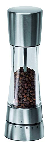 Cole & Mason Gourmet Precision Derwent Pepper Mill, Acrylic and Stainless Steel, Silver, 19.5 cm