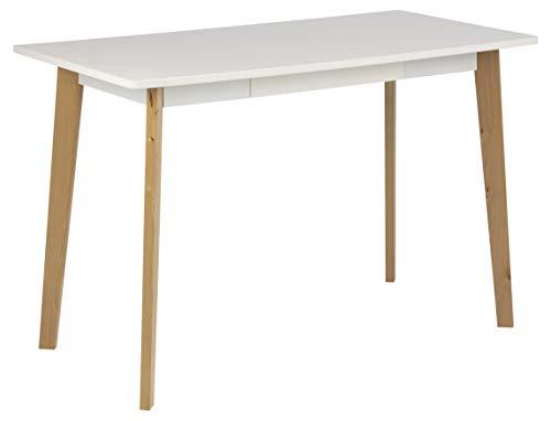 AC Design Furniture Medina Bureaux, Bouleau, Blanc, 117 x 58 x 75,5 cm