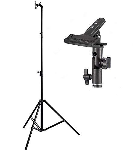 Selens 撮影用 2.6mライトスタンドキット クランプホルダー付き 1/4ネジ 高さ調整可能 レフ板クリップ スタジオ撮影 折り畳み リフレクター レフ板など対応