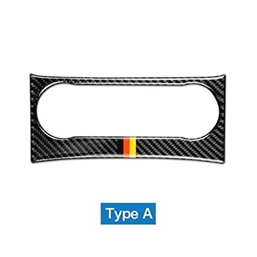 ASSDDAF-110 Decoración Ajuste para Mercedes Benz C Clase W204 Accesorios 2011-2013 Carbon Fiber Car Interior Aire Acondicionado Control Pegatinas Accesorios (Color Name : Carbon with Strips)