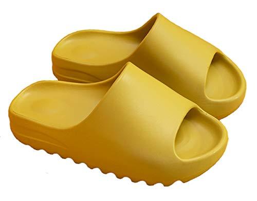 Pantoletten Damen Atmungsaktiv Flip Flops Schieberegler Sandalen Anti-Rutsch Flache Badeschuhe EU 34/35 = Etikette 35/36